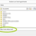 Insérer un lien hypertexte dans un e-mail
