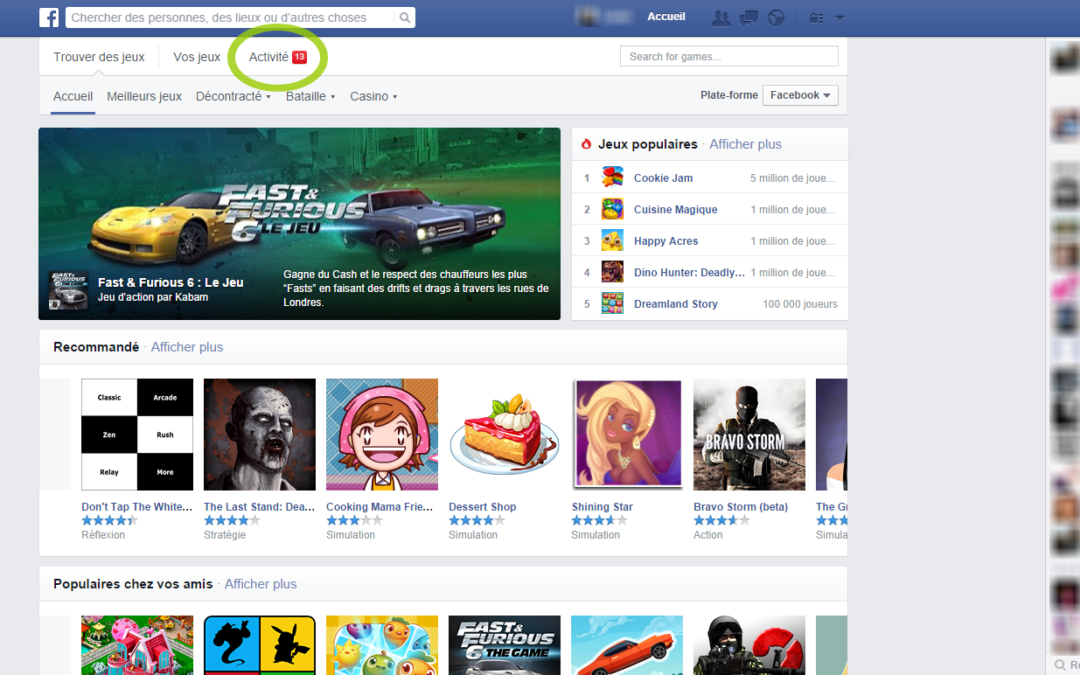 Comment bloquer les notifications de jeux Facebook