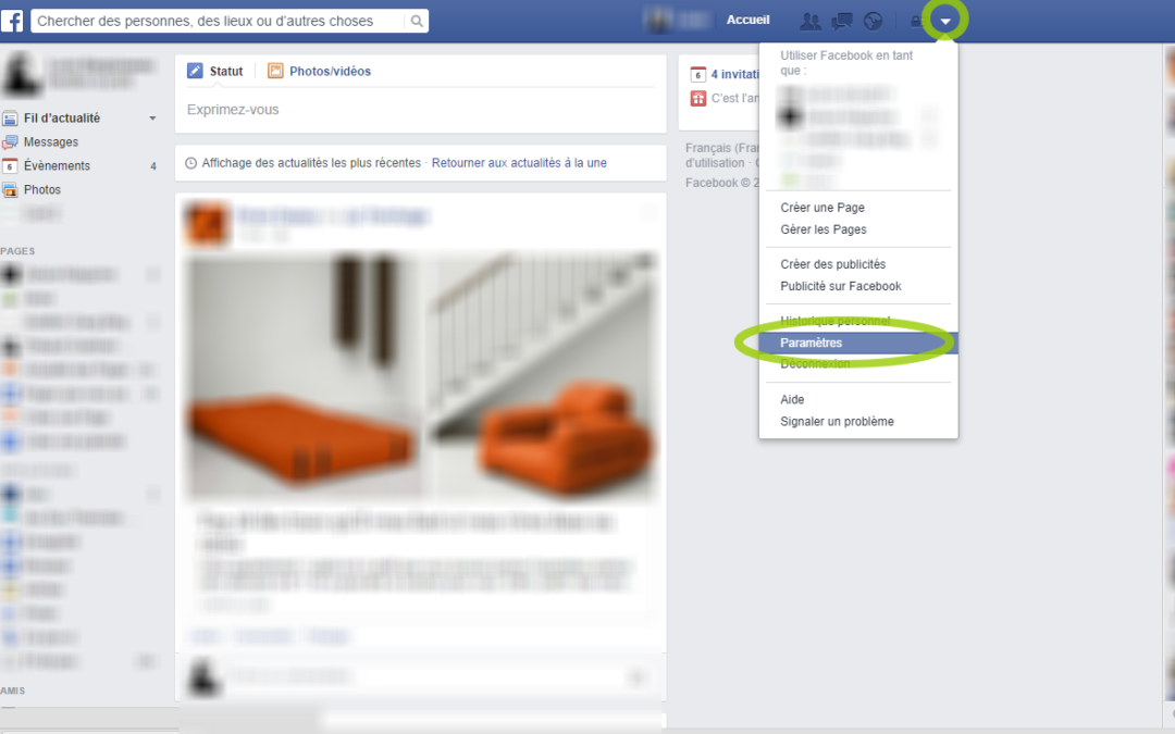 Bloquer un contact sur Facebook