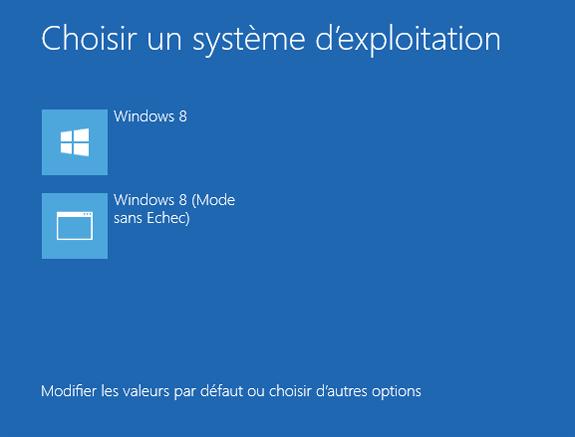Redémarrer Windows en mode sans échec.