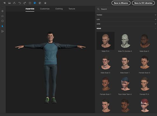 Adobe Fuse : créez votre personnage en 3D.